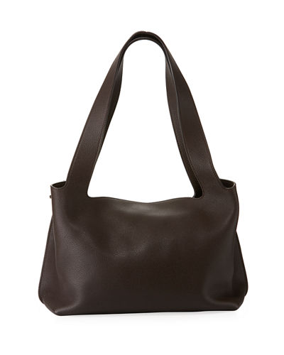 Duplex Small Calfskin Satchel Bag