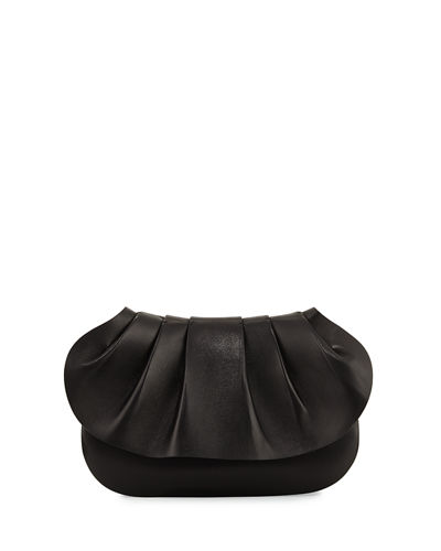 Fan Leather Clutch Bag