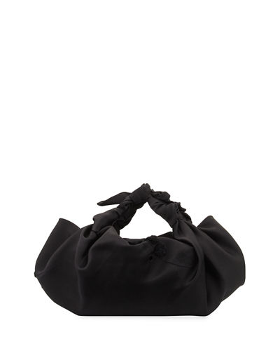 The Ascot Small Embroidered Satin Hobo Bag