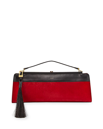 Two-Tone Small Clutch Bag