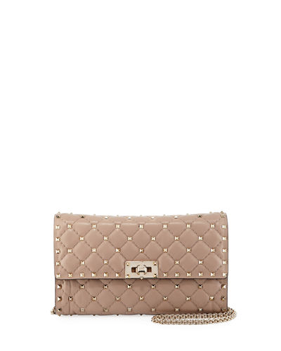 Quilted Rockstud Chain Bag