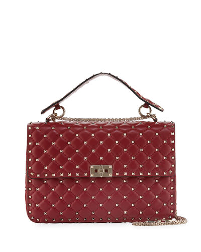 Rockstud Large Quilted Shoulder Bag