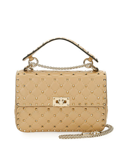 Rockstud Spike Medium Top-Handle Bag