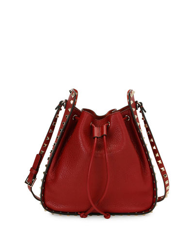 Rockstud Large Leather Bucket Bag