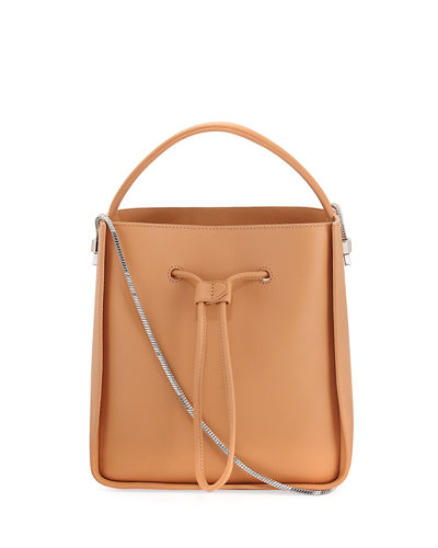 North-South Leather Top-Handle Bag