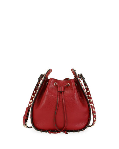 Rockstud Leather Bucket Bag