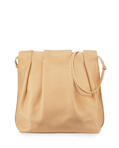 Wander Pleated Leather Shoulder Bag