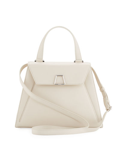 Alba Framed Structured Calfskin Top Handle Bag