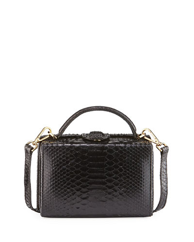 Caterina Python Satchel Box Bag
