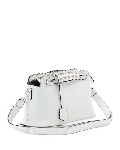 By the Way Small Scalloped Satchel Bag, White