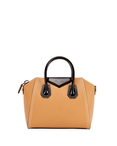 Antigona Bicolor Small Leather Satchel Bag