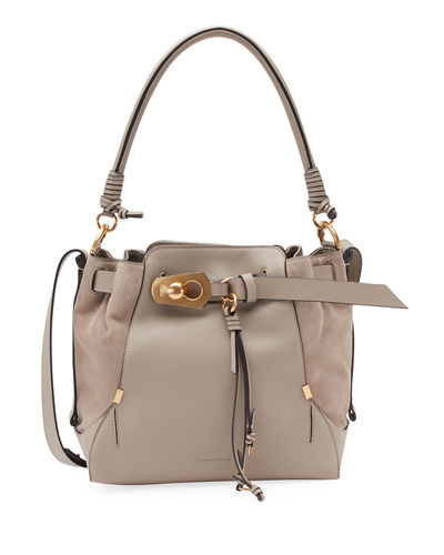 Owen Medium Leather Bucket Bag