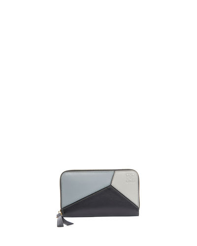Loewe Puzzle Medium Colorblock Zip-Around Wallet