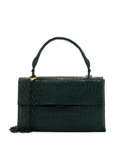 Medium Double-Gusset Crocodile Bag