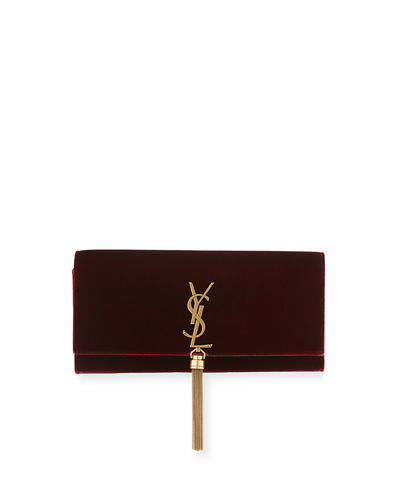 Kate Monogram Velvet Clutch Bag