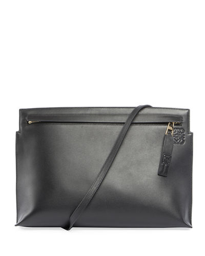 T Pouch Leather Shoulder Bag