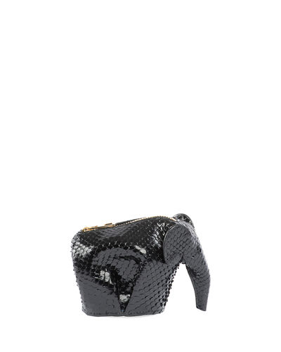 Snakeskin Elephant Coin Purse