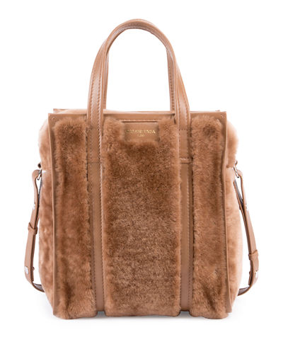 Bazar Shopper XS AJ Shearling Fur Tote Bag