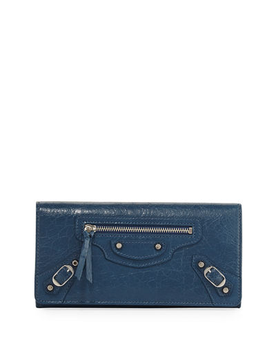 Money City Leather Clutch Bag