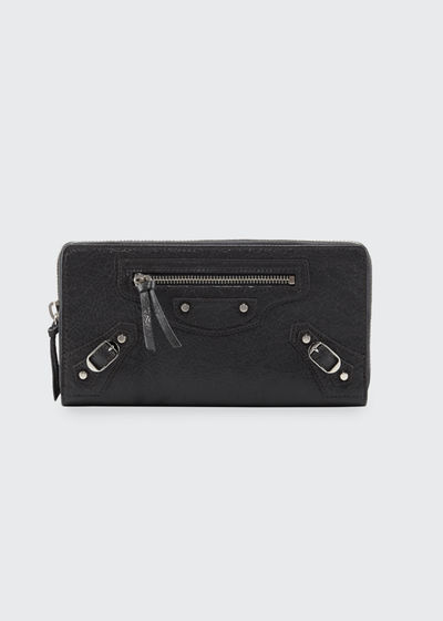Balenciaga Money Leather Continental Wallet