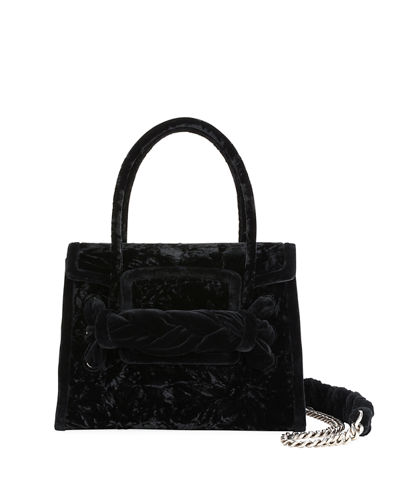 Velvet Top-Handle Bag
