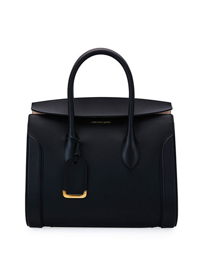 Alexander McQueen Heroine 35 Leather Shopper Tote Bag