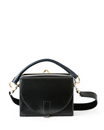 Large Leather Flap-Top Satchel Bag
