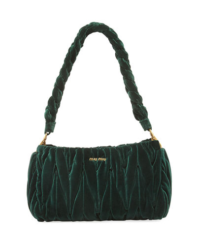 Velvet Matelasse Shoulder Bag