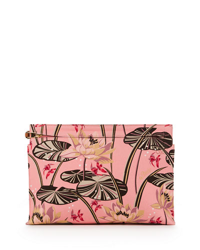 x Paula's Ibiza T Pouch Clutch Bag with Goldfish Pond Print