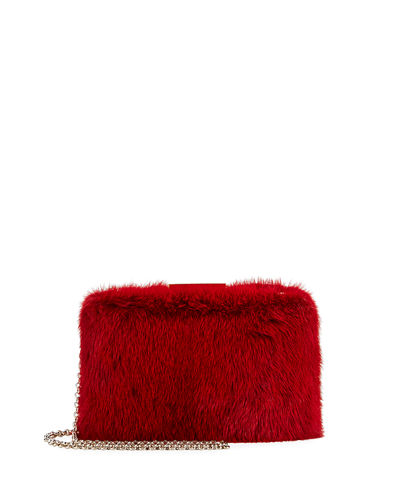 Rogan Mink Fur Box Clutch Bag