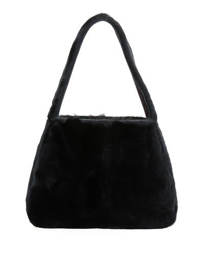 Rabbit Fur Hobo Bag