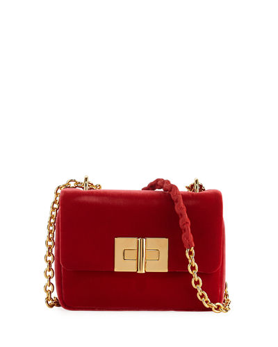 Natalia Velvet Chain Shoulder Bag