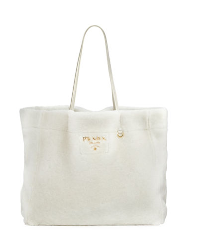 Medium East-West Shearling Fur Tote Bag