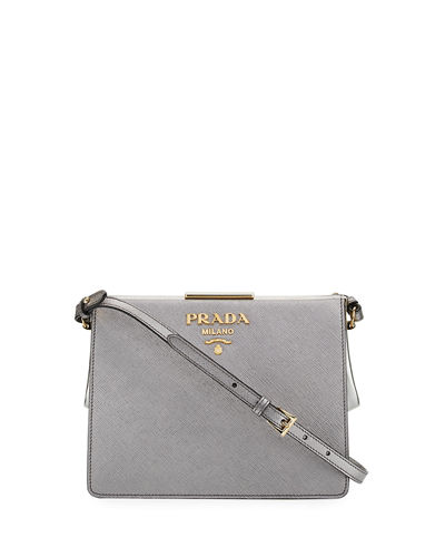 Soft Frame Saffiano Crossbody Bag