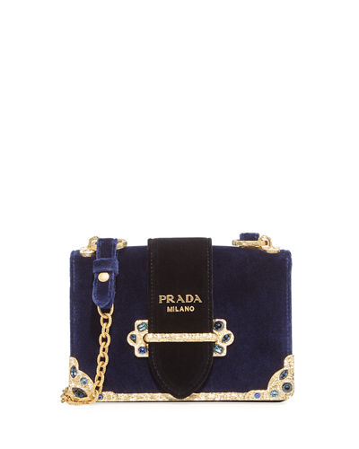 Velvet Cahier Chain Shoulder Bag