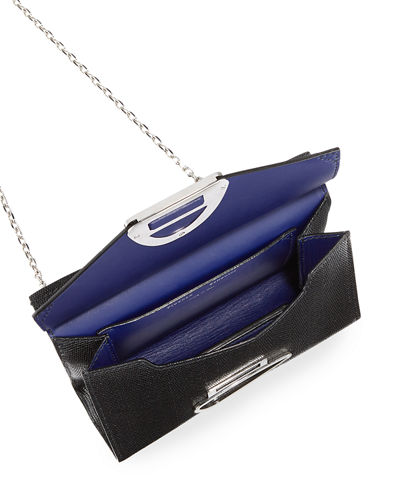Curl Small Embossed Chain Clutch Bag