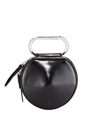 Alix Circle Top-Handle Clutch Bag