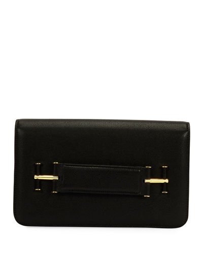 Tara Grain Calf Clutch Bag