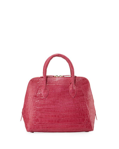 Small Crocodile Zip-Top Dome Bag