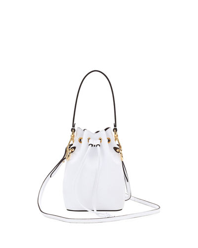 Leather Bucket Bag w/Crossbody Strap