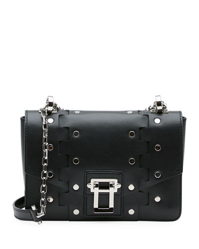Hava Studded Leather Chain Shoulder Bag