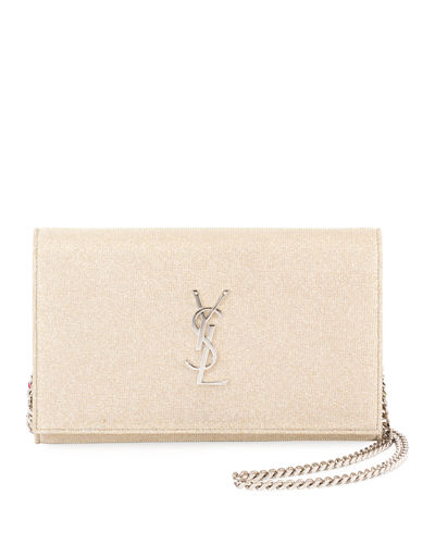 Kate Monogram Sparkle Wallet on a Chain