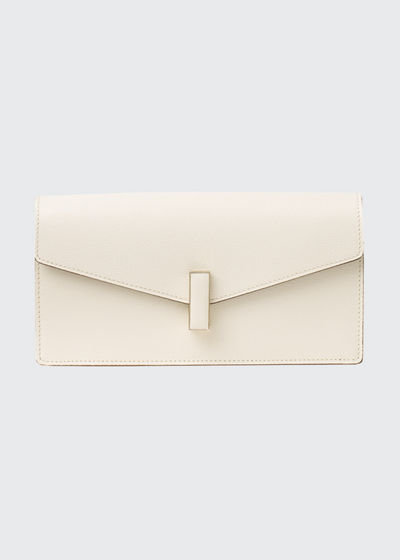 Iside Leather Envelope Clutch Bag