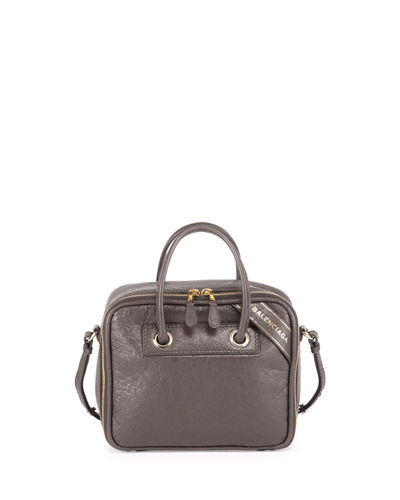 Blanket Square Small AJ Arena Leather Satchel Bag