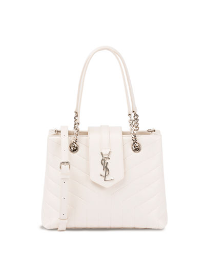 Loulou Small Quilted Leather Tote Bag