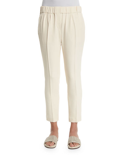 Soft Pleated Cropped Pants