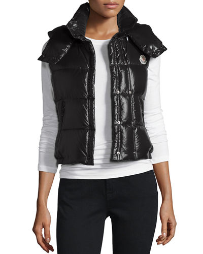Moncler Galene Shiny Hooded Vest