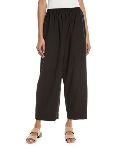 Cropped Stretch-Wool Trousers