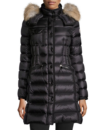 Moncler Hermifur Snap-Front Puffer Coat