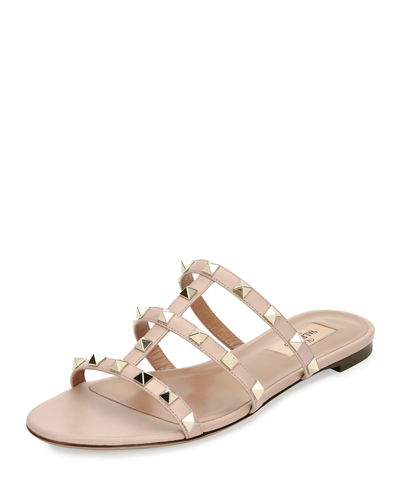 Rockstud Caged Sandal Slide